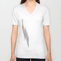 glitch V-neck T-shirts featuring glitch by Gabriele Omar Lakhal