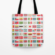 Vintage World Flags Tote Bag