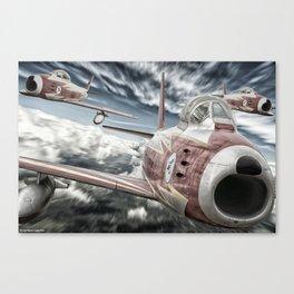ASCUA aerobatic team Canvas Print