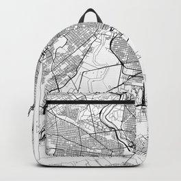 Philadelphia Map White Backpack