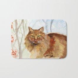 Ginger Cat Bath Mat