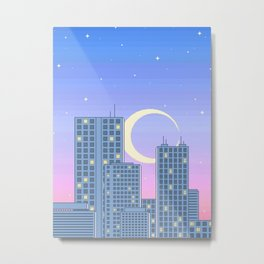 The City Never Sleeps Metal Print