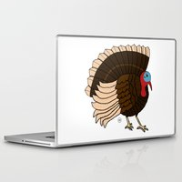 turkey Laptop & iPad Skins featuring Thanksgiving Turkey by Yatasi