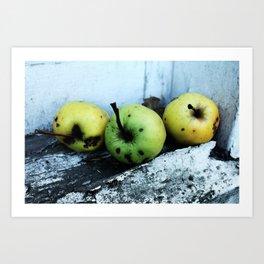 Sad Apples Art Print