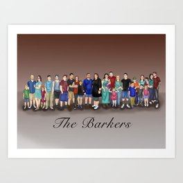 The Barkers Art Print