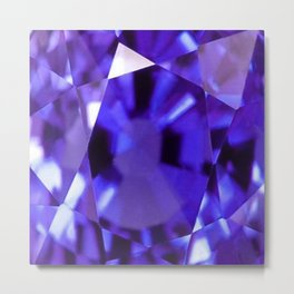 RUSSIAN PURPLE AMETHYST FEBRUARY BABY'S BIRTHSTONE ART Metal Print