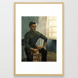 Oscar Isaac in Operation Finale Framed Art Print