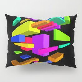 Original Geometric Perspective Artwork Pillow Sham