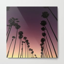 LA sunset sky gradient 055 Metal Print