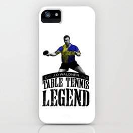 Jan Ove Waldner | Table Tennis Legend iPhone Case