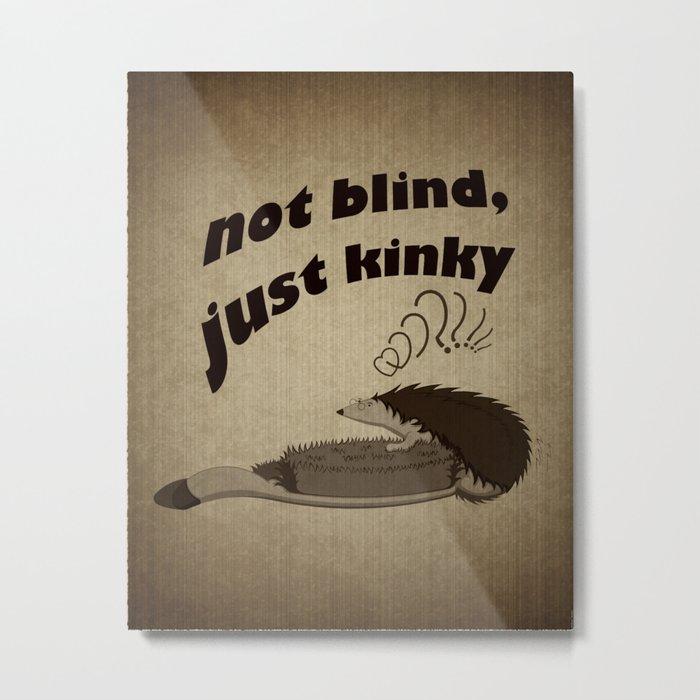 Not blind, just kinky! Metal Print