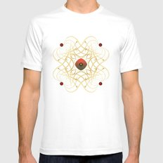 Fleuron Composition No. 43 White Mens Fitted Tee MEDIUM