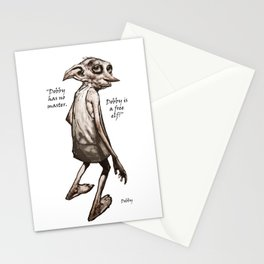 Dobby is a free elf Stationery Cards