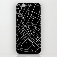 London Road Blocks Black iPhone & iPod Skin