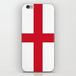 Flag of England (St. George's Cross) - Authentic version to scale and color iPhone Skin