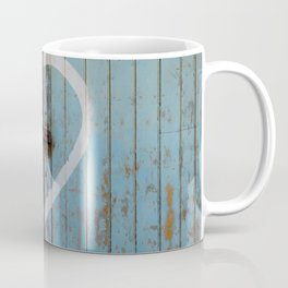 Rustic Blue Heart Coffee Mug