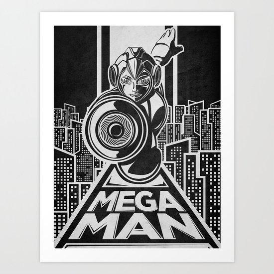 Megaman. In the year 20xx Art Print