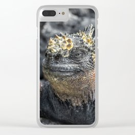 Marine iguana in the Galapagos Clear iPhone Case