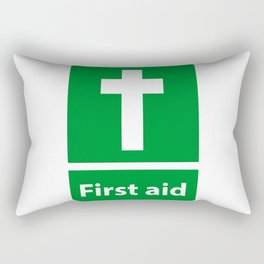 First Aid Cross - Christian Sign Illustration Rectangular Pillow