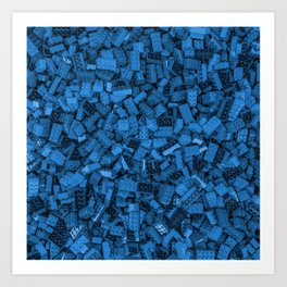 Master builder Blue Art Print