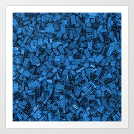 Master builder Blue Art Print