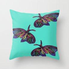 Butterflies gradient  Throw Pillow