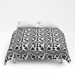 black and white symetric patterns 19- bw, mandala,geometric,rosace,harmony,star,symmetry Comforters