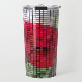 Red Rose Edges Mosaic Travel Mug