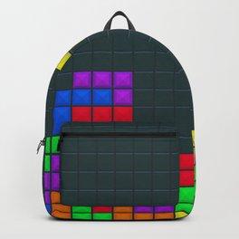 Retro Blocks Video Game Pattern Backpack