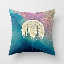 behind mountain Throw Pillow