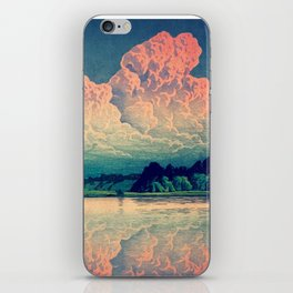 Admiring the Clouds in Kono iPhone Skin