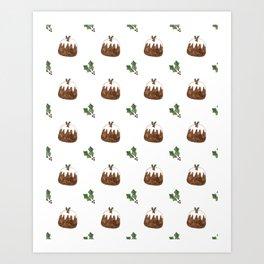 Christmas Pudding Pattern Art Print