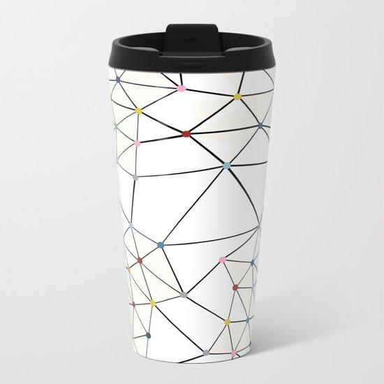 Seg with Color Spots White Metal Travel Mug