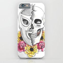 El Santo with Memorial Flowers iPhone Case