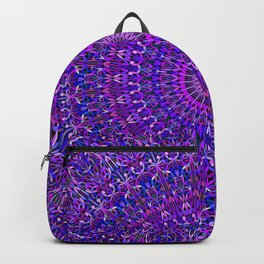 Lace Mandala in Purple and Blue Backpack