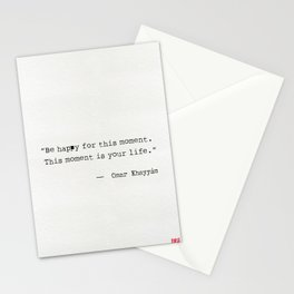 Omar Khayyám quote Stationery Cards
