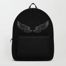 Black Angel Wings Backpack