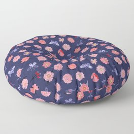 Roses and Butterflies Floor Pillow