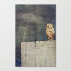 Whoo Goes There? Canvas Print