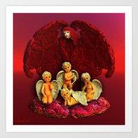 #Christmas Angels Art Print