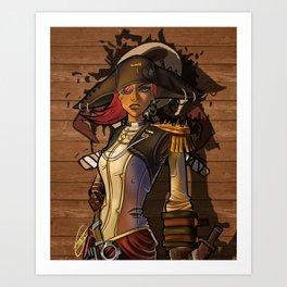 Captain Scarlett Art Print