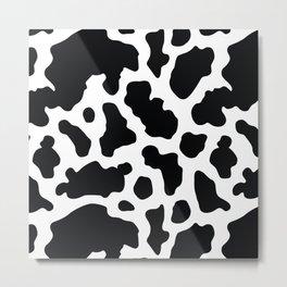 Seamless Pattern Cow Decoration Metal Print
