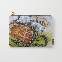 Unhinged Dreams - Mixed Media Beeswax Encaustic Modern Fine Art, 2015 Carry-All Pouch