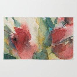 Roses 2 (watercolor) Rug