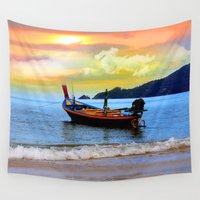 surfboard Wall Tapestries featuring  thailand by mark ashkenazi