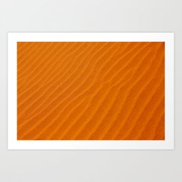 NAMIBIA ... sand waves Art Print