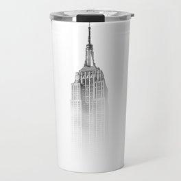 Wistful monochrome Empire State Building Travel Mug