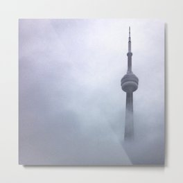 CN Tower in the Fog Metal Print