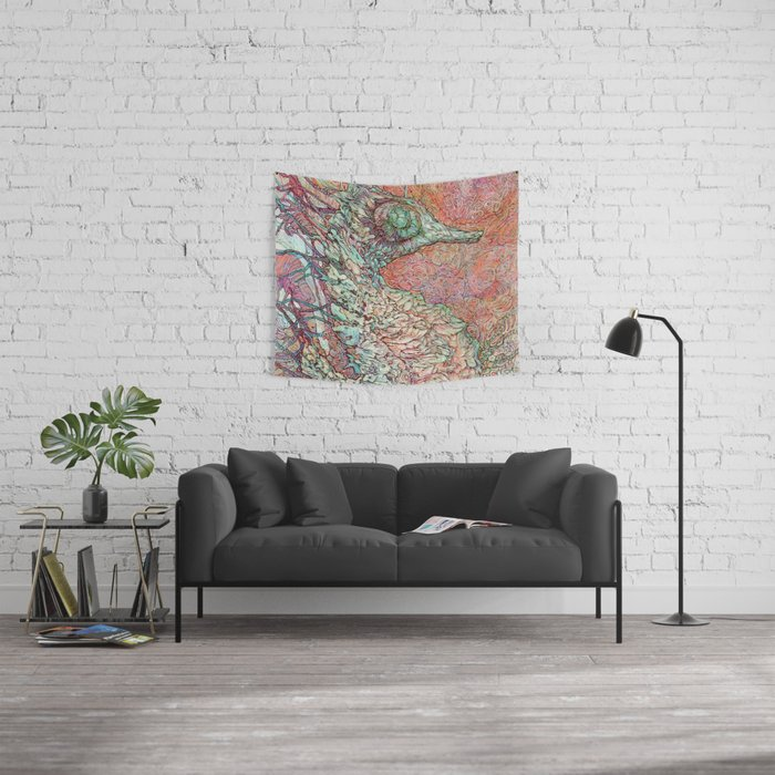 Siren's Ride Wall Tapestry