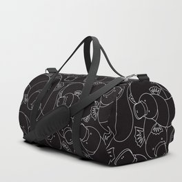 Minimalist Platypus Black and White Duffle Bag